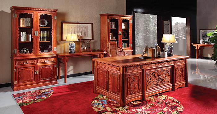 国寿红木缅甸花梨木家具